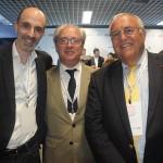 Jean-Michel Mathieu, CEO da Joon, Henri Hourcade, VP Sênior da Air France-KLM para América Latina, Caribe e Oceano Índico, e Patrick Alexandre, diretor Comercial, de Vendas e Aliança da Air France