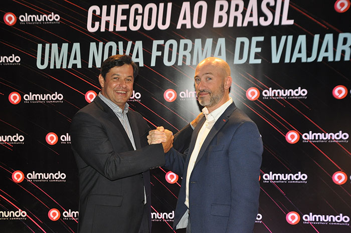Luciano Barreto, country manager a Almundo Brasil, e Juan Pablo Lafosse, CEO da Almundo