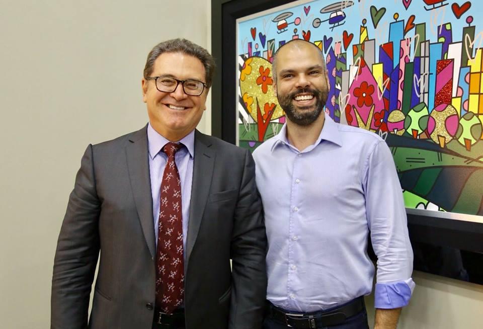 Vinicius Lummertz, ministro do Turismo, e Bruno Covas, prefeito de São Paulo