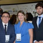 Manoel Linhares, presidente da ABIH Nacional, Manuelina Hardman e Graco Miranda, da ABIH-PB