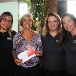 Nádia Guetes, do Pepitas Clube, com Daniela Cunha, da Avianca, Talita Moran e Adriana Machion, do Meliá, ganhou passagens domésticas da Avianca