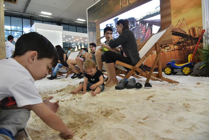 Na edição de 2017, Santa Catarina levou a expriência na areia-de suas praias ao evento (Foto Rodrigo Jacob)