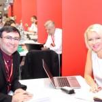 Omer Ben-Zeev, da Krsrey Tarbut com MIchaela Hoskobá, do NH Group