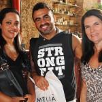Patrícia Zilo e Leandro Guerra, da Guesant Turismo, com Cristina Reis, do Nice Via Apia
