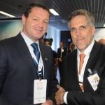 Pieter Elbers, CEO da KLM, e Paulo Kakinoff, presidente da Gol