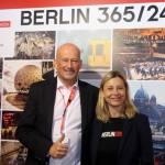 Ralf Ostendorf e Catarina Erceg, do turismo de Berlim