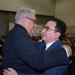 Roy Taylor, do M&E, com Manoel Linhares, presidente da ABIH Nacional