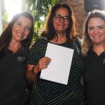 Sandra da Lucca com Adriana Machion e Talita Moran, do Meliá, ganhou diárias para o Meliá Ibirapuera