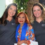Socorro Brito, da Blumon Viagens, com Adriana Machion e Talita Moran, do Meliá, ganhou diárias para o Tryp Iguatemi