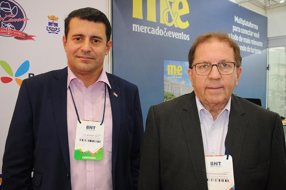 Tufi Michreff, secretário de Turismo de SC, e Valdir Walendowsky, presidente da Santur
