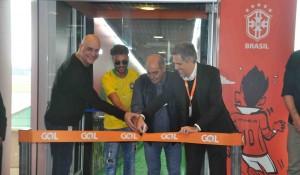 Gol inaugura Portão do Hexa em Congonhas-SP com presença de ex-craques; fotos