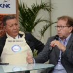 Alexandre Sampaio, da FBHA, e Valdir Walendowsky, da Santur