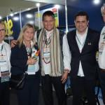 Alfredo Nicolas e Carlos Navas, da Peru Total, e Rosa Masgral e Roy Taylor, do M&E, e Gilmar Piolla, secretário de Turismo de Foz do Iguaçu