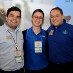 André Almeida, do Visit Orlando, Juanita Gomez, do Kennedy Space, e Luiz, da Disney
