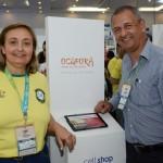 Andrea Ferreira, da FRT, e Mario Gomes, do Grupo Ocaporã