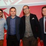 Caio Artoni, da Smartrips, Rogerio Miranda, da Inteegra Tec, Marco Aurelio, da Even 3, e Wellignton Costa, da GBTA