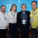 Celio Ribeiro, do Canto Cataratas, Roszana Lima, do Carim Hotel, Mazé, do Hotel Carima, e Rogerio Xavier, da FRT