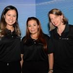 Claudia Marinato, da TAP, Cristina Martins e Christina Binnie, do Grupo Lufthansa