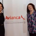 Claudia Shishido e Rebecca Meadows, da Avianca