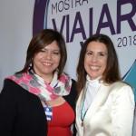 Diana Pomar, do Turismo do México, e Gisele Lima, da Promo