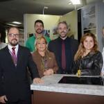Parte da equipe do estande do Turismo de Goiás