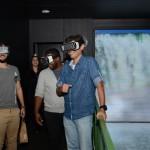 Experiência de realidade virtual no estande de Foz do Iguaçu