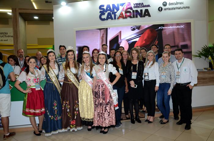 Santa Catarina se acostumou a ser representada nos principais eventos de Turismo do Brasil e do mundo