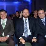 Felipe Gonzalez, CEO da Cassinotur, Guilherme Paulus, da GJP, e Gilmar Piolla, secretário de Turismo, Indústria, Comércio e Projetos Estratégicos de Foz do Iguaçu