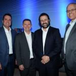 Gleyson Ranieri, da Air Canada, Luis Quaggio, da TAP, Emerson Sanglard, da Copa, e Altamiro Medicci, da SAA