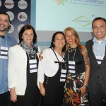 Guido Varela, Marilia Mills, Marcia de Paula e Samir dos Santos, do Petrópolis CVB, com a consultora Vanisa Schuller,
