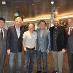 Ignacio Palacios e Roberto Affonseca da MSC, com Edmar Bull, Aldo Leone Fiho, Valter Patriani e Rodrigo Stocco