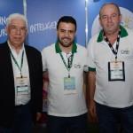 João Carlos e Danilo Petry, da secretaria de Turismo de Balneário Camboriú, e Sergio Schultz, da Costa Verde