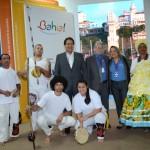 José Alves, secretário de Turismo da Bahia, com Marcia Pereira e Miguel Andrade, da Transmundi