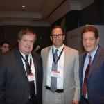 Kevin Maguire, vice-presidente de Operações da GBTA, e Wellignton Costa, diretor geral da GBTA no Brasil, com Jake Cefolia, da United