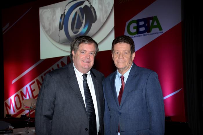 Kevin Maguire, vice-presidente de Operações da GBTA, e Wellignton Costa, diretor geral da GBTA no Brasil