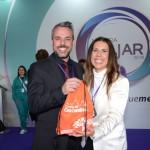 Leandro Garcia, presidente da Goiás Turismo, e Gisele Lima, da Mostra Viajar