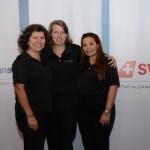 Magda Moraes, Christina Binnie e Cristina Martins, do Grupo Lufthansa