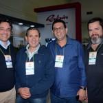 Marcelo Beisso, Jose Ocaranza, do Duty Free Puerto Iguazu, Luiz Carlos Soster e Daniel Dronneau, da Savana Safari