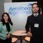 Mariana Campos e Michel da Rocha, da Aerolineas Argentinas