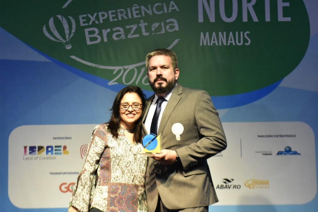 Monica Samia, CEO da Braztoa, e Nickolas Cabral do Anjos, Diretor de Marketing da Amazonastur