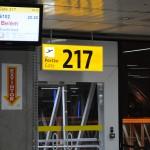 Portão de número 217 embarcou tripulantes e passageiros neste voo inaugural para Belém