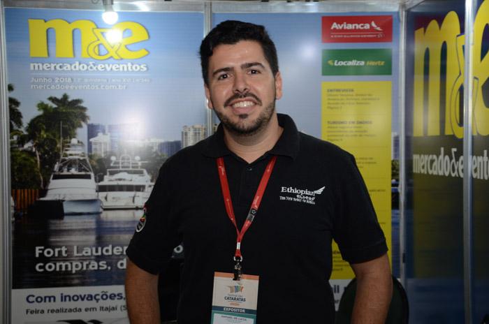 Raphael de Lucca, gerente de vendas da Ethiopian do Brasil
