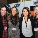 Raquel Biage e Elizabeth Santos, do Melia Hotels, com Talita Longuini e Alessandra Ranieri, do Hilton