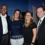 Reifer Souza, da Alatur JTB, Laura Dias, da Kontik, Catia Schick, da United, e Anthony Stevenson, da United