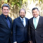 Rogério Siqueira, presidente do Beto Carrero World, Guilherme Paulus, da GJP, e Felipe Gonzalo,da Cassinotur