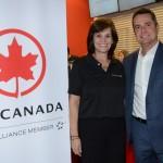 Sandra Passetto e Gleyson Ranieri, da Air Canada