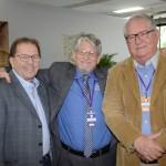 Valdir Walendowsky, da Santur, Miguel Andrade, da Transmundi, e Roy Taylor, do M&E
