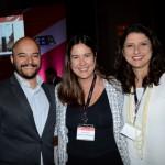 Vinicius Luz, da Unilever, Bruna Duarte, do Marriott, e Kellen Baldonari, do Ranaissance