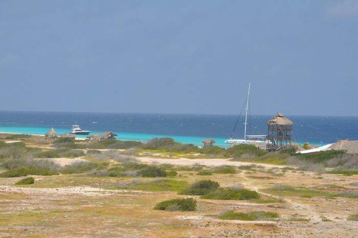 Vista do Farol em Klein Curaçao