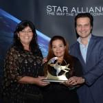 Wania Fasulo e Andre Sanajoti, da High Light, e Cristina Martins, do Grupo Lufthansa